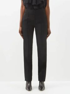 Edeltrud Hofmann - Jolly Pussy-bow Silk Blouse - Womens - Blue Multi