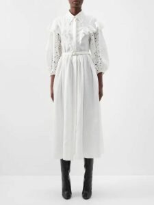 Barrie - Lace-stitched Cashmere Hooded Sweatshirt - Womens - Grey