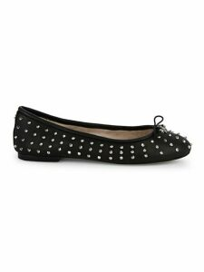 Embellished Leather Ballet Flats