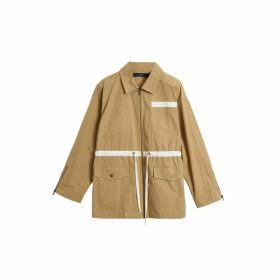 On Parle De Vous Parka Mid-length Contrasting Stripes