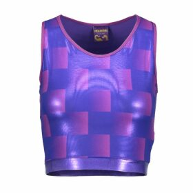 Manon Planche - Purple Check Sportsbra & Crop Top
