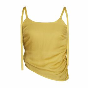 blonde gone rogue - Diagonal Sustainable Top Yellow