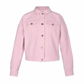 blonde gone rogue - Sustainable Frayed Denim Jacket In Pink