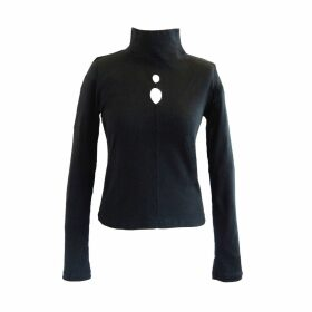 esfera. - Sustainable Black Teardrop Turtleneck