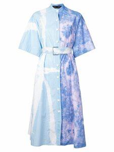 Proenza Schouler Tie Dye Shirt Dress - Blue