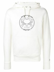 Maison Kitsuné basic logo hoodie - White