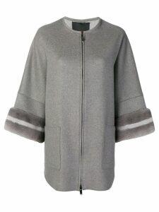 Liska A-line style cardigan - Grey