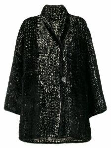 Liska Bell oversized coat - Black