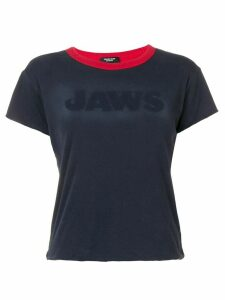 Calvin Klein 205W39nyc Jaws reversible cropped T-shirt - Blue
