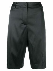 Prada double satin Bermuda shorts - Blue
