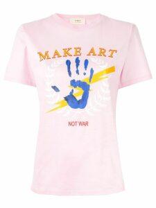 Ports 1961 Make Art Not War T-shirt - PINK