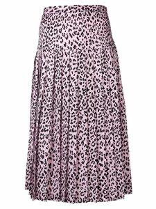 Alessandra Rich leopard print pleated skirt - PINK