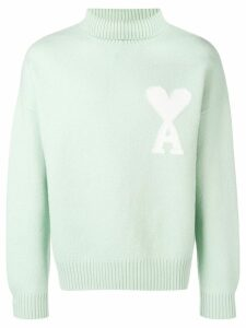 Ami Paris Ami de Coeur oversize sweater - Green