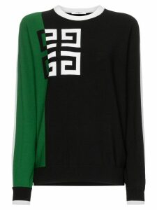 Givenchy Logo print two-tone woollen blend jumper - Black