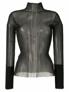 Dion Lee Opacity Pleat top - Black