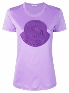 Moncler logo patch T-shirt - PURPLE