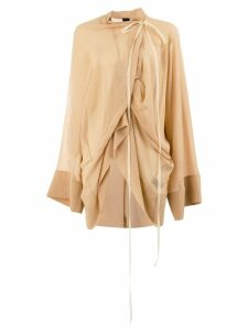 Vera Wang ruched blouse - NEUTRALS
