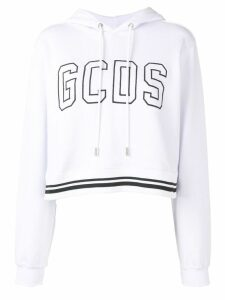 Gcds logo hooded sweatshirt - White