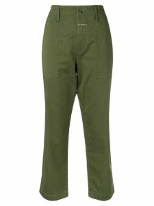 Closed cropped trousers - Green