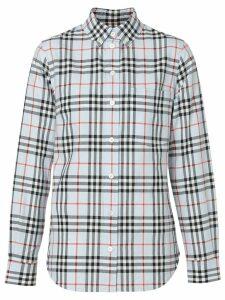 Burberry Button-down Collar Vintage Check Cotton Shirt - Blue