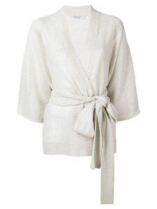 Brunello Cucinelli tie waist cardigan - Neutrals