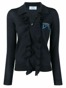 Prada ruffled knitted cardigan - Blue