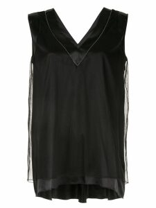 Fabiana Filippi layered blouse - Black