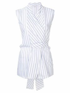 Brunello Cucinelli striped wrap top - White
