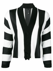 Pierantoniogaspari vertical striped cardigan - Black