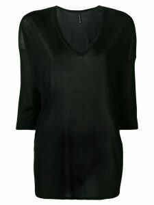 Pierantoniogaspari sheer knitted top - Black