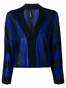 Pierantoniogaspari striped cardigan - Black