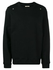 Zilver organic cotton round-neck sweatshirt - Black