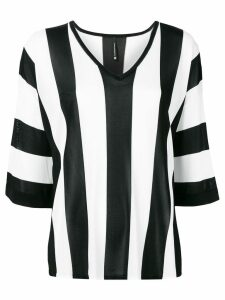 Pierantoniogaspari vertical striped blouse - Black
