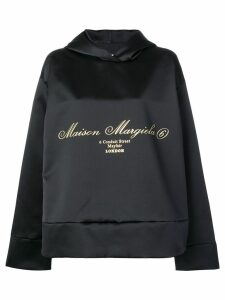 Mm6 Maison Margiela oversized draped sweatshirt - Black