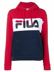 Fila logo colour-block hoodie - Blue