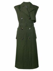 Bottega Veneta sleeveless belted trenchcoat - Green