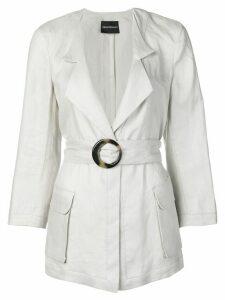 Emporio Armani Saharian belted jacket - Grey