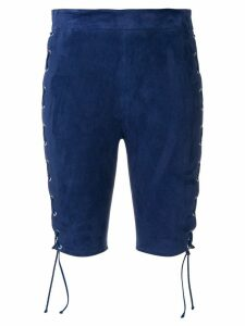 UNRAVEL PROJECT lace-up cycling shorts - Blue