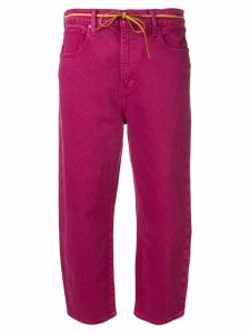 Levi's: Made & Crafted five pocket design cropped trousers - Pink