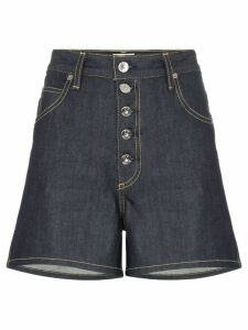Eve Denim Leo high waisted denim shorts - Blue