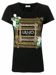 Liu Jo chain print T-shirt - Black