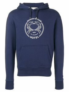Maison Kitsuné printed logo hoodie - Blue