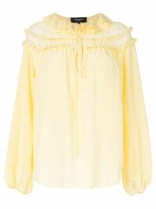 Rochas ruffled neck blouse - Yellow