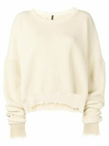 Unravel Project distressed knitted jumper - NEUTRALS