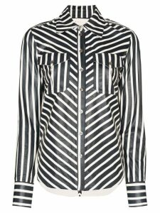 Skiim Caroline striped shirt - Blue