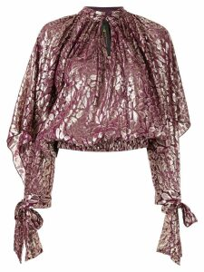 Romance Was Born floral metallic blouse - PURPLE