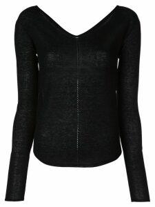 Lemaire boat neck blouse - Black