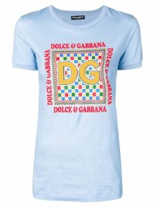 Dolce & Gabbana textured detail T-shirt - Blue
