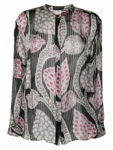 Isabel Marant plisse band collar shirt - Black