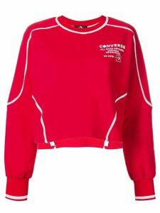 Converse logo printed sweatshirt - Red